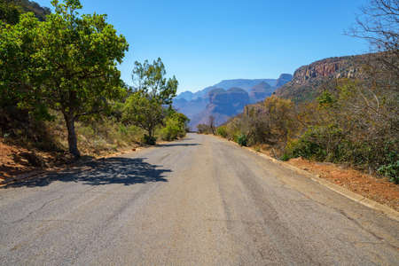 road to lower viewpoint, blyde river canyon in mpumalanga in south africa
