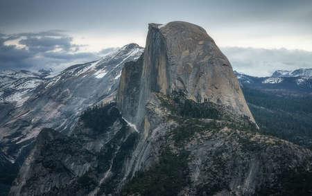 half dome from glacier point in yosemite national park, california, usa