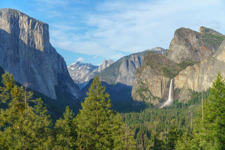 tunnel view in yosemite national park, california in the usa Stok Fotoğraf