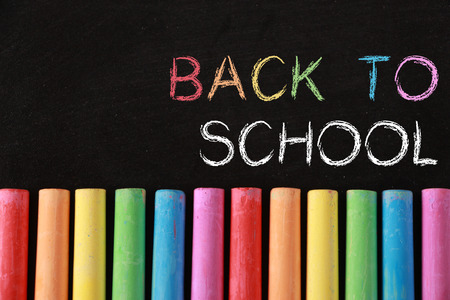 culture school: Back to school Background with some colourful chalk.