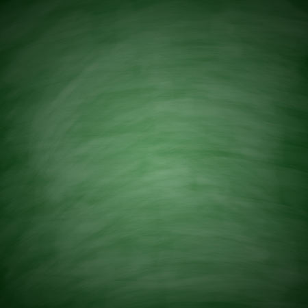 Blank green chalkboard with chalk traces for background image. photo