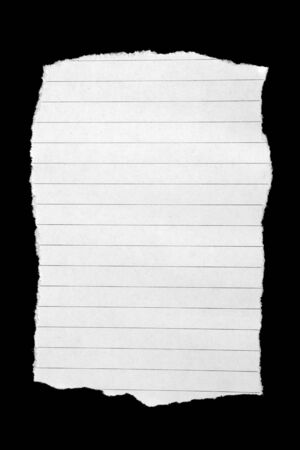 blank note book: Blank note book paper isolated on black background.