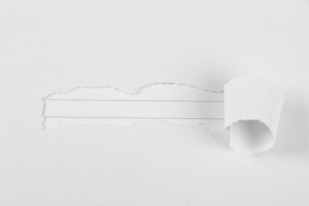 tear paper: Note paper background under white tear paper.