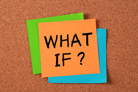 what if: What if post-it note pasted on corkboard.