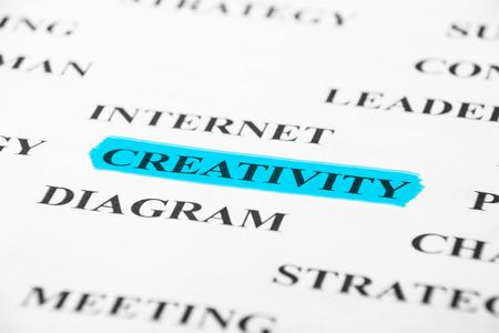 psyche: Creatividad con algunas otras palabras relacionadas en el papel.