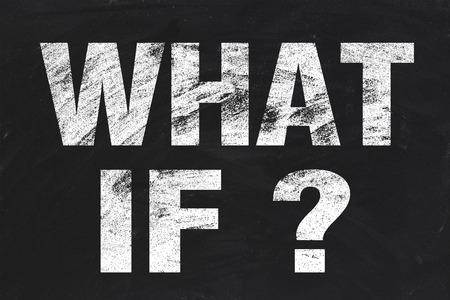 what if: What if text is written by white chalk on blackboard.