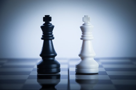 chess board: Chess strategy concept is on the chess board.