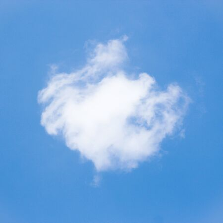 single  object: White cloud is on the blue sky background.