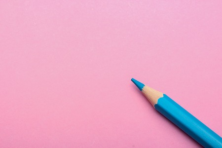screenplay: Color pencil is lying on the colored background with copy space.