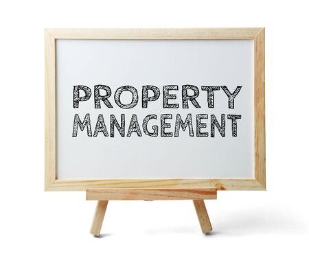 property management: Whiteboard with text Property Management