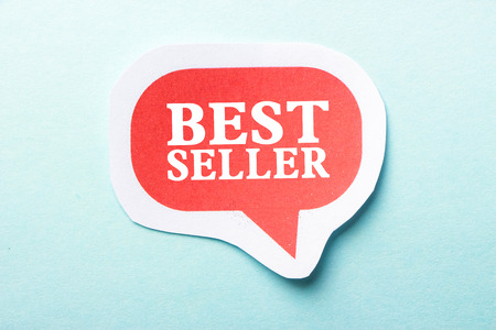 best seller: Best Seller speech bubble is isolated on the blue background.