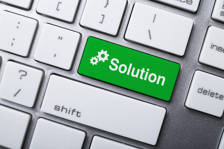 the solution: Closeup of Solution button on keyboard