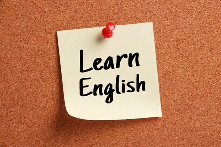 Die Sprachlernkonzept von Englisch lernen für Englisch Ausbildung. Standard-Bild - 55150655
