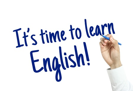 english word: The language learning concept of Learn English for English Education.