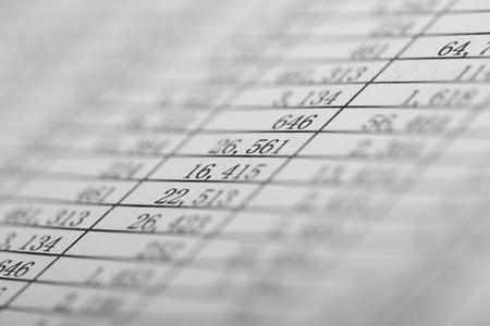 plan Gros plan des chiffres sur le bilan.