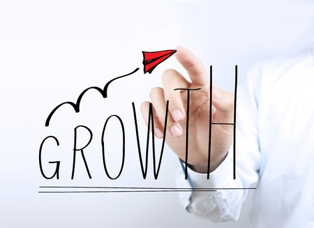 computation: Business growth concept picture for business growth abstract background.