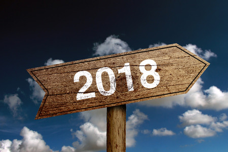 Concept of new year 2018 ahead for background used.