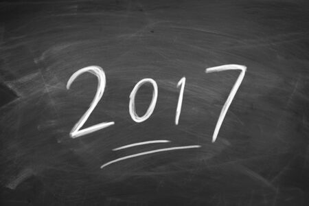 ahead: Concept of new year 2017 ahead for background used.