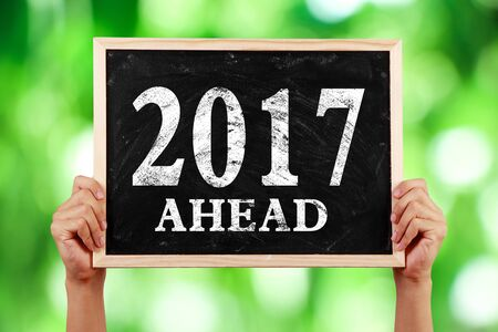 Concept of new year 2017 ahead for background used.
