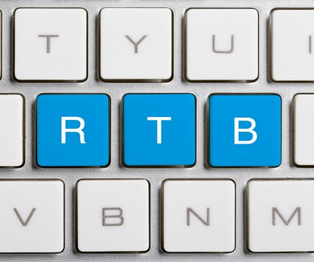 bidding: RTB word is on the blue buttons of keyboard.