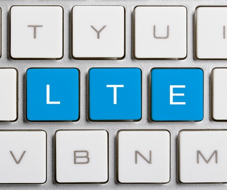 lte: LTE word is on the blue buttons of keyboard.