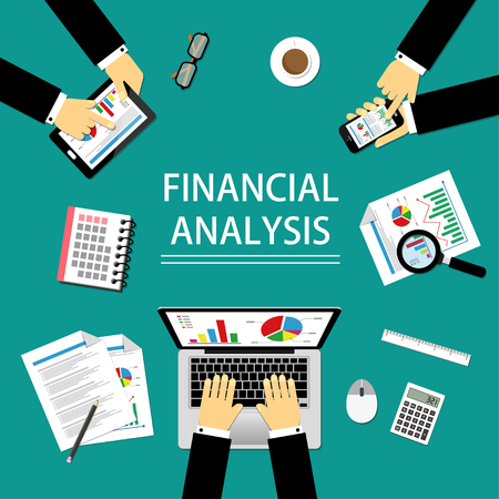 financal: illustration of Financal Analysis concept which is easy to edit.