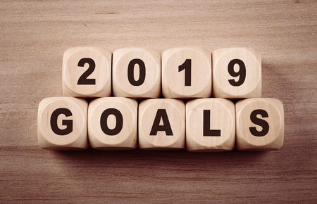 Business concept of 2019 Goals title text.