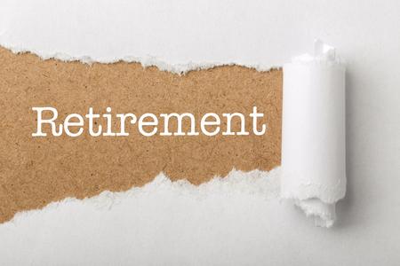 Retirement Business Concept text title.
