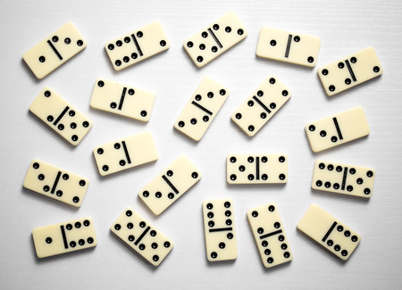 Domino game on a white background.