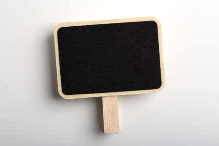 Blank Blackboard Sign Board Isolated on white background.