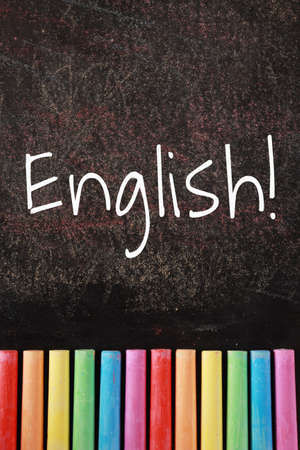 English text of English learning concept.