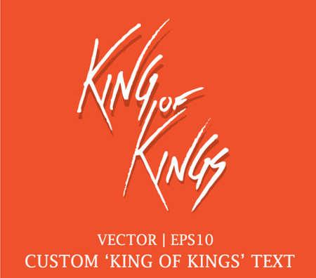 christ the king: King of Kings Jesus Handwritten Custom text font vector | EPS10