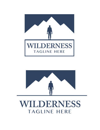 Wilderness set vector, scalable and editable.