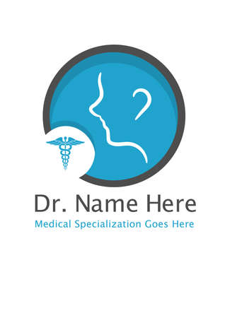 Doctor logo template, fully editable and scalable, can be used for doctor clinics with any medical specialization. Ilustrace
