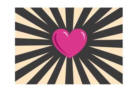 Hearth illustration symbol on background. Vector template for banner, flyer, invitation, card, poster 向量圖像
