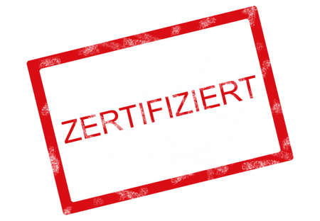 stamped: red certified stamped german