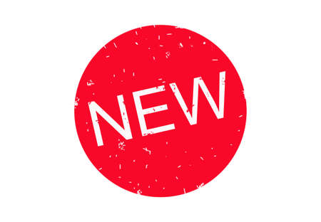 sensational: red button with the word new Stock Photo