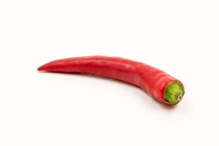 peper: chili peper with white background
