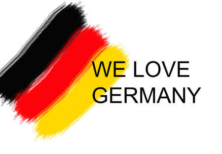 we: we love germany flag Stock Photo