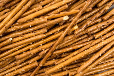 pretzel stick: many salty sticks