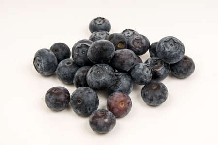 bilberry: bilberry or blueberry on white background Stock Photo