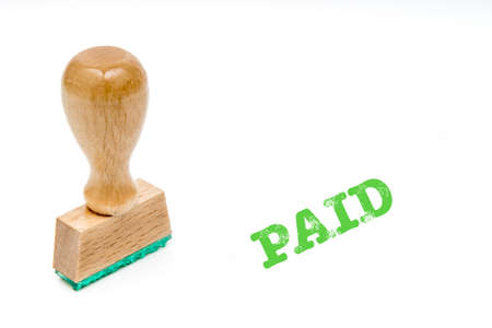 paid: stamp paid isolated