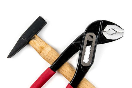 alicates: Alicates y martillo aislados