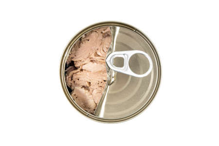 tin: tin can tuna isolated Stock Photo