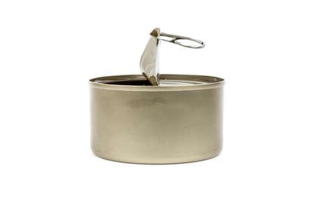 tin: tin can isolated on white