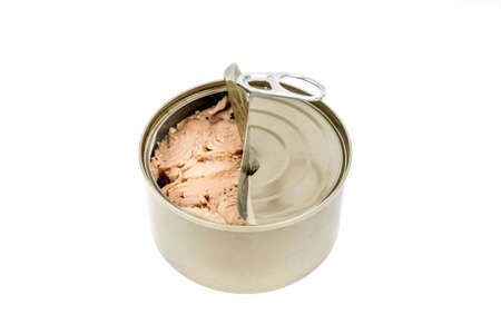 tin: tin can tuna isolated Stock Photo