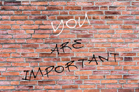 important: wall graffiti you are important