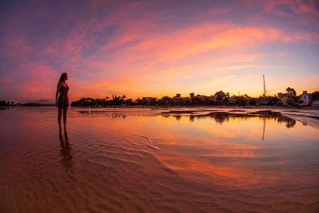 Sunset at Guarda Beach of Emba? Santa Catarina