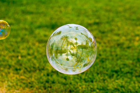 Soap bubble at Las Americas in Tenerife Canary Islands 版權商用圖片