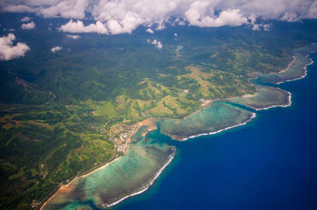 Aerial view of coral reef at Fiji Islands Stock fotó